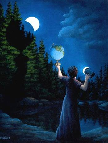 paintings of two moons - photo #9